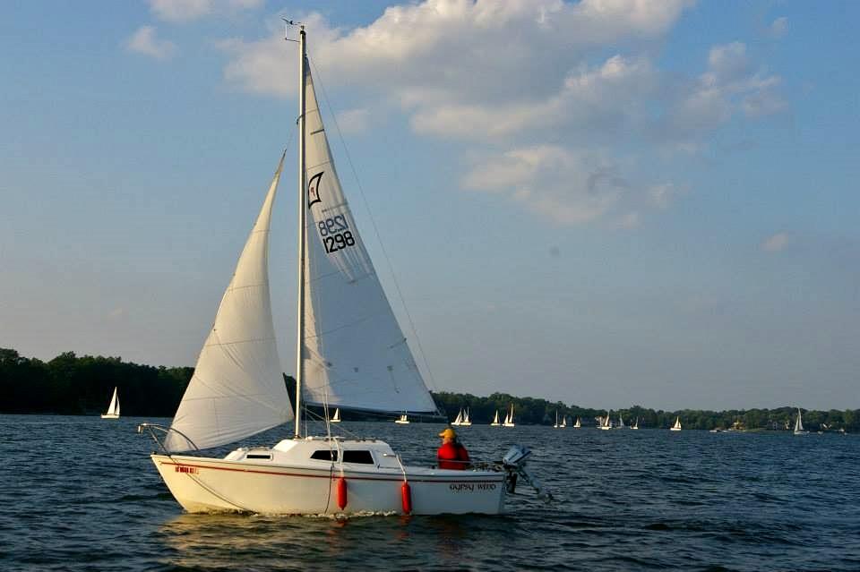 Potter at ISC evening sail