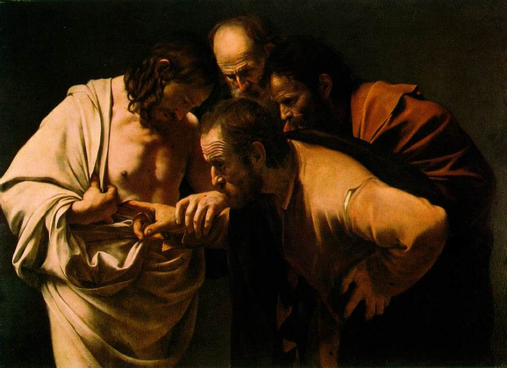The Incredulity of Saint Thomas. Caravaggio